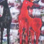 Cavallo rosso tec. mista 76x75 2014