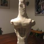 L'eroe marmo bianco d'Istria h 60 cm