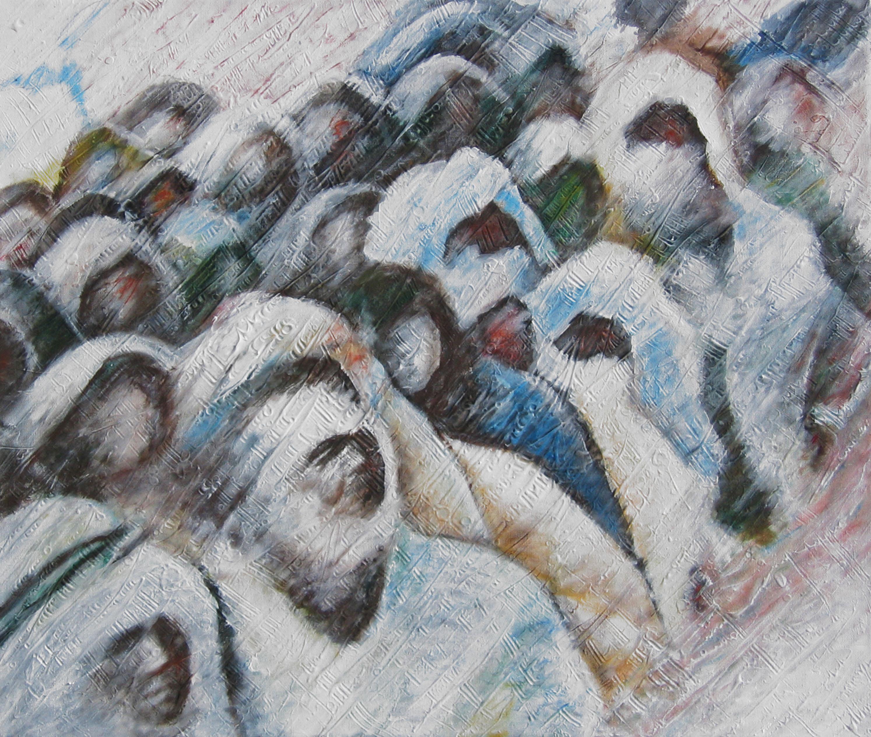 migranti tec.mista su tela 70x80 2013