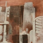 Paesaggio urbano_ tec.  mista su tela 50x50x4 2013
