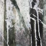 Senza titolo Nero_ verde acrilico su tela 50x50 2010