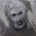Autoritratto 30x30_ acryl su intonaco 2010