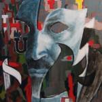 Maschera di me stesso_ tec mista su tela 70x60 2012