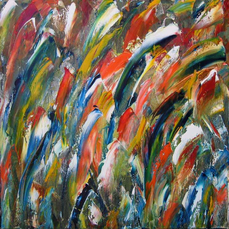 No titolo 423i 06 olio su tela 50x50 - Arte Mazzurega