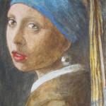 La ragazza con l'orecchino di perla da Vermeer 50x25