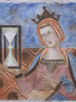 da Ambrogio Lorenzetti La Giustizia_ 50x50 affresco staccato