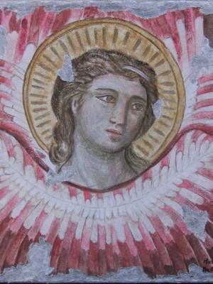 da Cavallini angelo affresco staccato 50x50