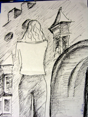 Veduta Brixen su carta