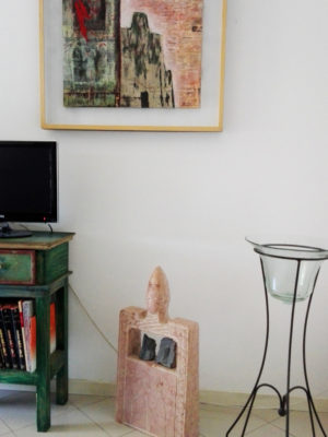 Quadro Monolite e scultura in marmo Cippo