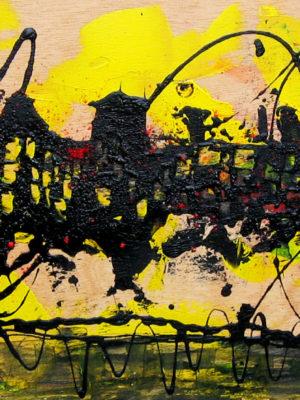 Il pippistrello tec. mista su tavola 40x80 2005