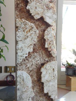 Interni esterni, marmo travertino H 98 2015