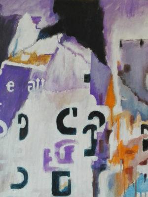cavallo tec. mista su tela 50x50 2016
