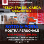 Locandina mostra personale di Porta Brescia a Peschiera del Garda