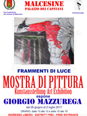 Locandina mostra personale di Malcesine Palazzo dei Capitani 2017