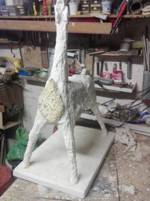 Cavallo, scultura in gesso H 70